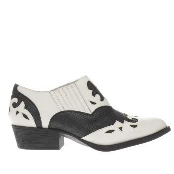 Coconuts White & Black Giddy Up Boots
