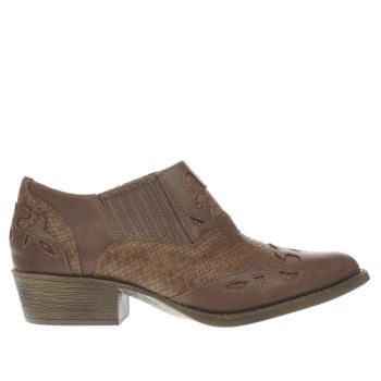Coconuts Tan Giddy Up Womens Boots