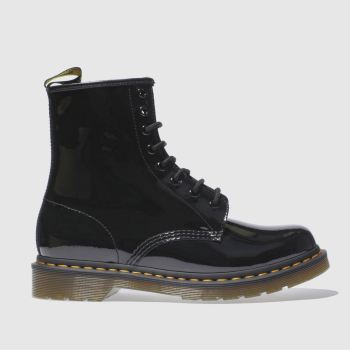 Womens Dr Martens Black 8 Eye Patent Boots