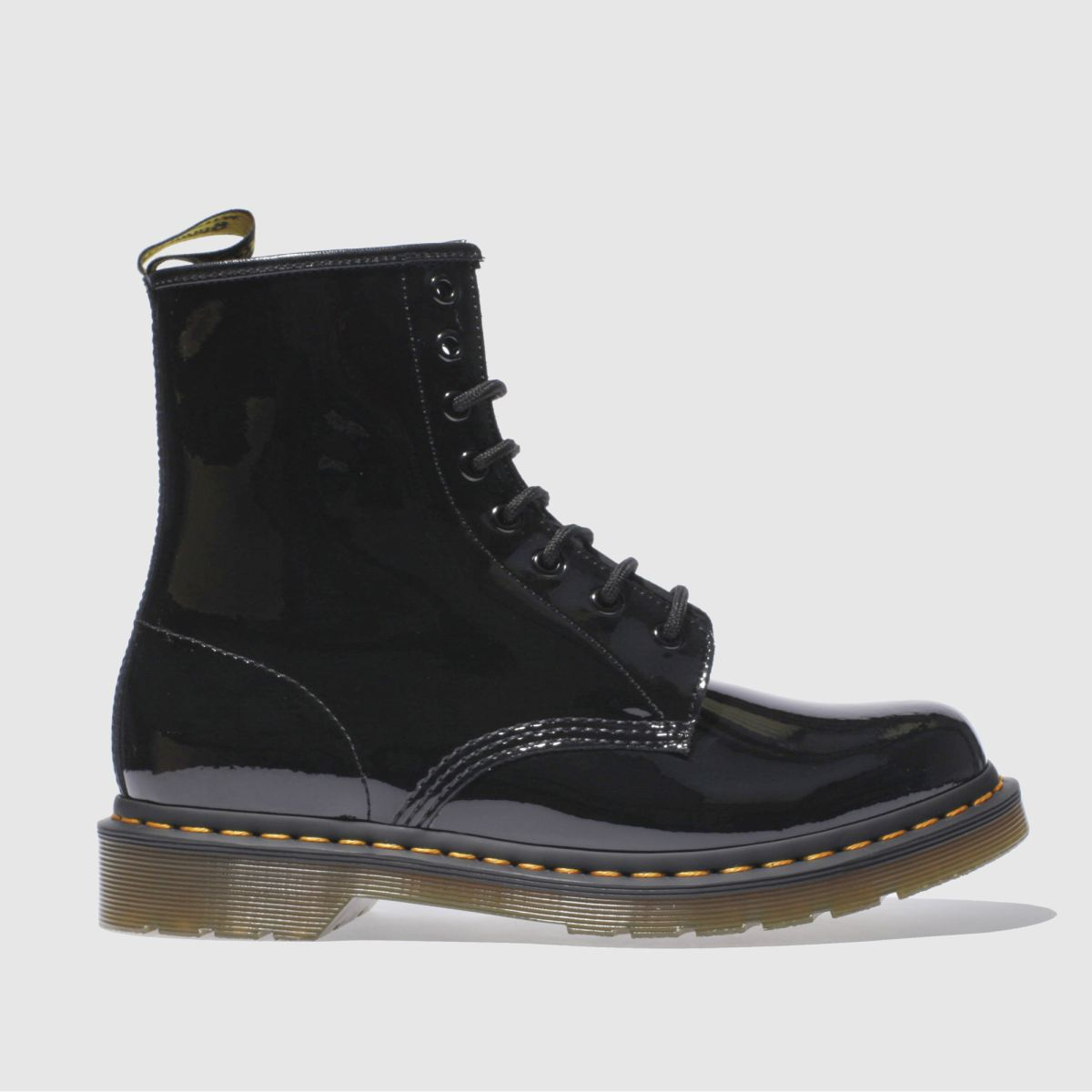 dr martens black 8 eye patent boots