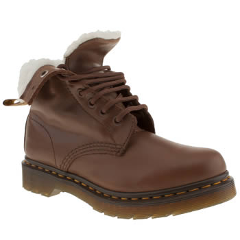 Womens Dr Martens Tan Serena 8 Eye Boot Boots