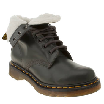 womens dr martens grey serena 8 eye boots
