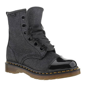 womens dr martens black gracie glitter boots