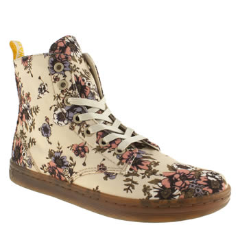 womens dr martens beige eclectic shoreditch rose boots