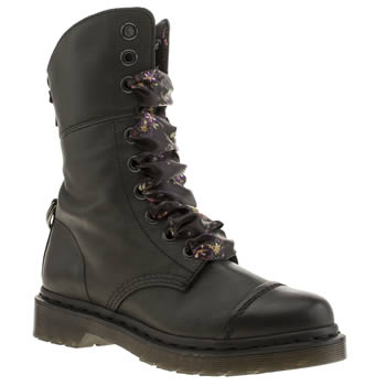 Womens Dr Martens Black Aimilita 9 Eye Boots