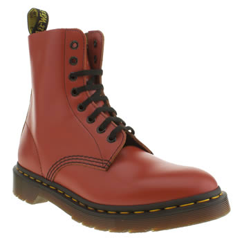 Womens Dr Martens Red Pascal 8 Eye Boots