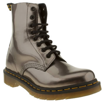womens dr martens pewter pascal 8 tie boots