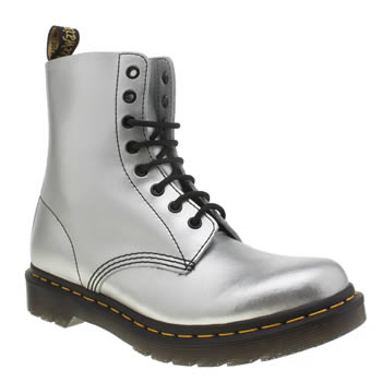 Dr Martens Silver Pascal 8 Eye Boots