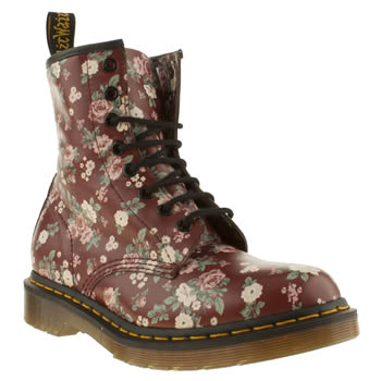womens dr martens burgundy 8 eye vintage rose boots