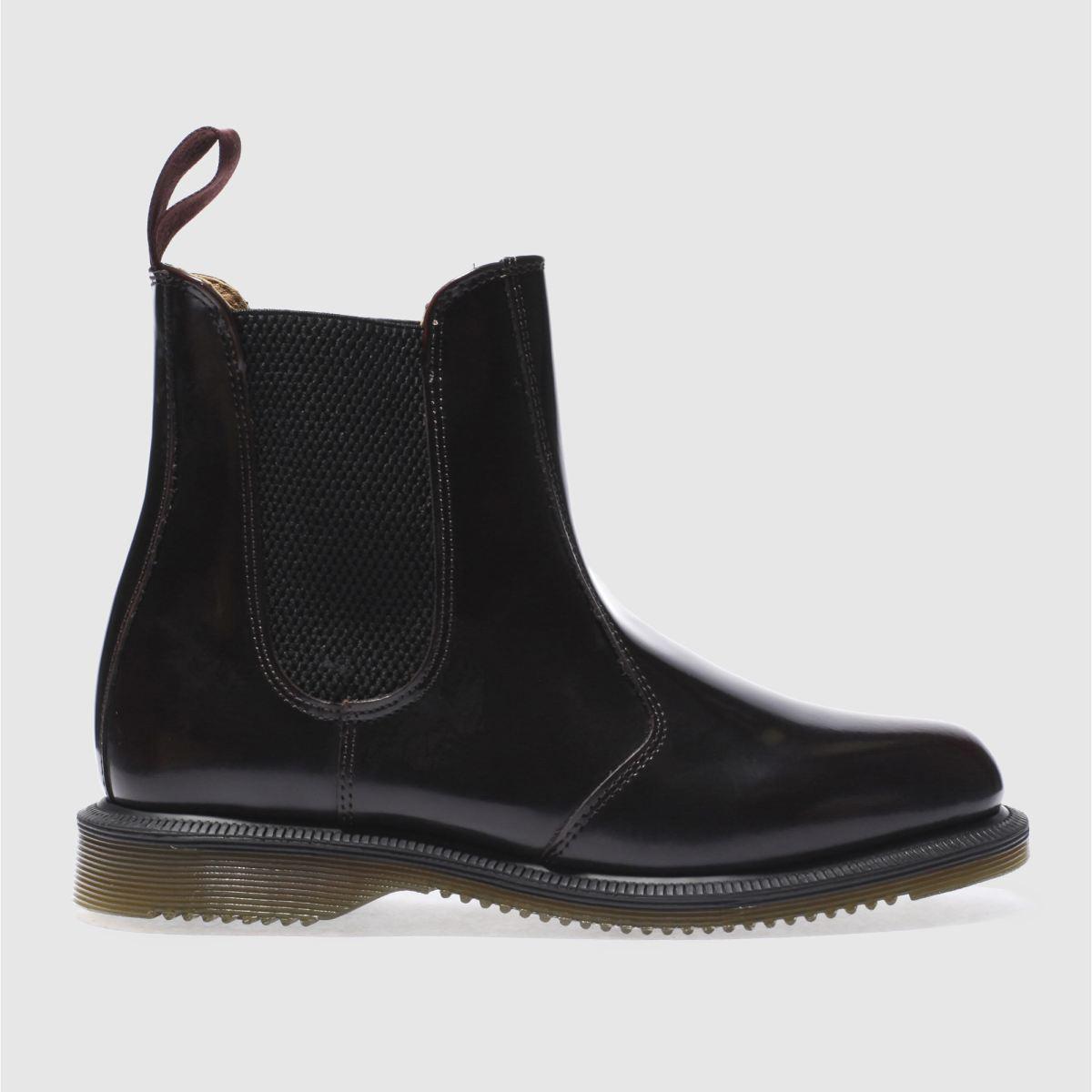 Dr Martens Burgundy Kensington Flora Chelsea Boots
