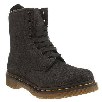 Dr Martens Black Dm 1460 8 Eye Glitter Boots