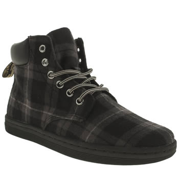 Dr Martens Black & Grey Eclectic Maelly Tartan Boots