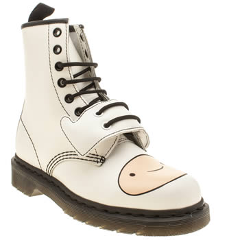 Womens Dr Martens White Adventure Time Finn Boots