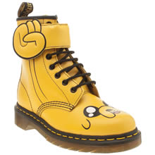 Dr Martens Yellow Adventure Time Jake Womens Boots