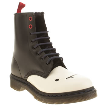 Dr Martens Black & White Adventure Time Marceline Boots