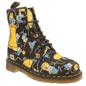 Dr Martens Black and blue Adventure Time Castel Boots