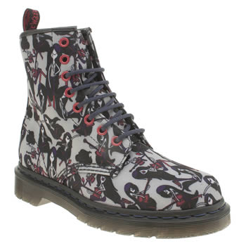 Dr Martens Black & Grey Adventure Time Marceline Boots