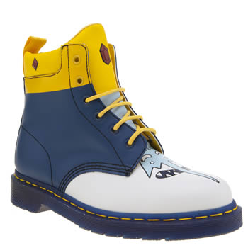 Dr Martens White & Blue 939 Adventure Time Ice King Boots