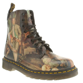 Womens Dr Martens Multi 1460 8-eye William Hogarth Boots