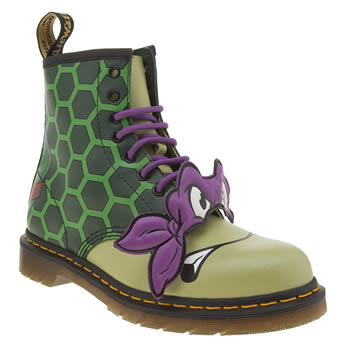 Dr Martens Green Ninja Turtles Donatello Womens Boots
