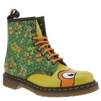 Dr Martens Green Ninja Turtles Michelangelo Womens Boots