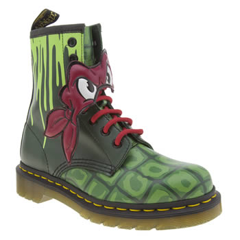 Dr Martens Green Ninja Turtles Raphael Womens Boots