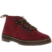 Dr Martens Burgundy Dm Lahava 6 Eye Lined Chukka Womens Boots