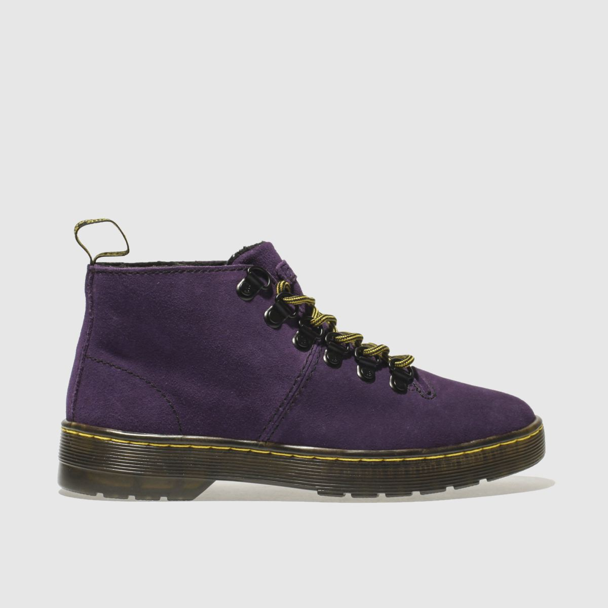 dr martens purple lahava 6 eye lined chukka boots