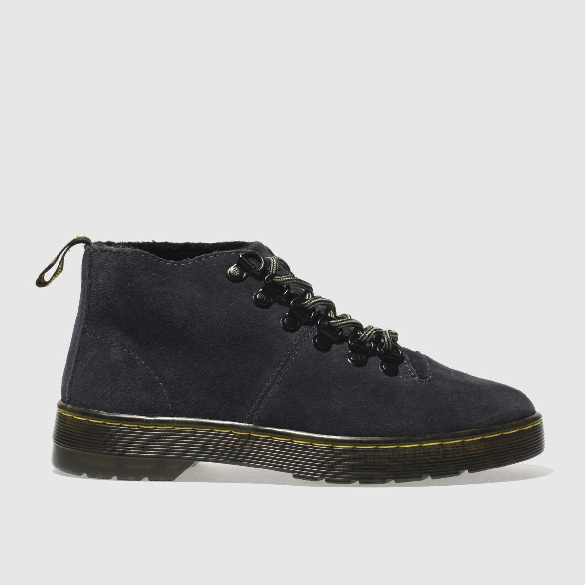 dr martens dark grey lahava 6 eye lined chukka boots