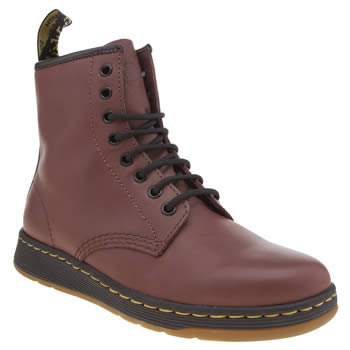 Dr Martens Burgundy Newton 8 Eye Womens Boots