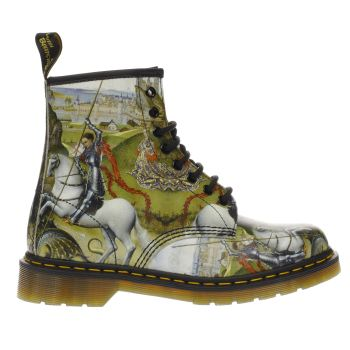 Dr Martens Green & Black 1460 George & Dragon 8 Eye Boots