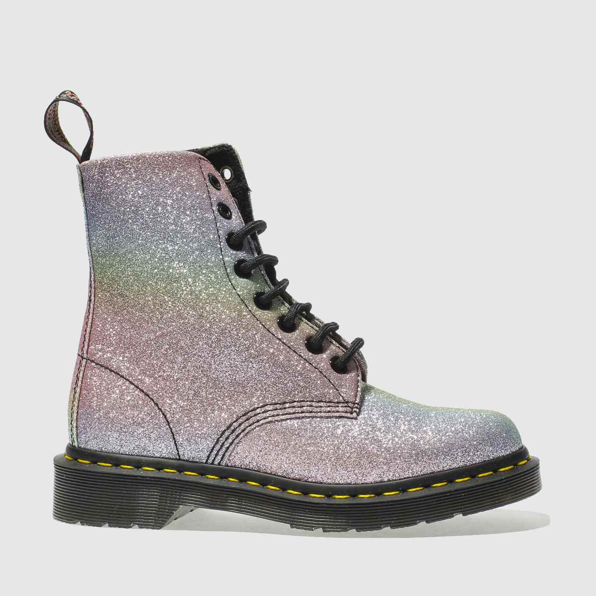 dr martens pink & purple pascal 8 eye boots