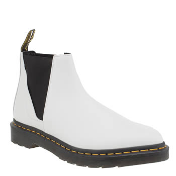 Dr Martens White & Black Bianca Chelsea Womens Boots