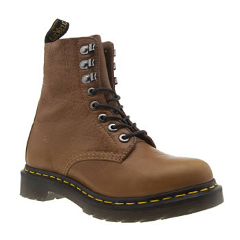 Dr Martens Tan Pascal 8 Eye Womens Boots