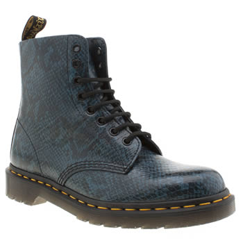 Dr Martens Blue Pascal Viper 8 Eye Boots
