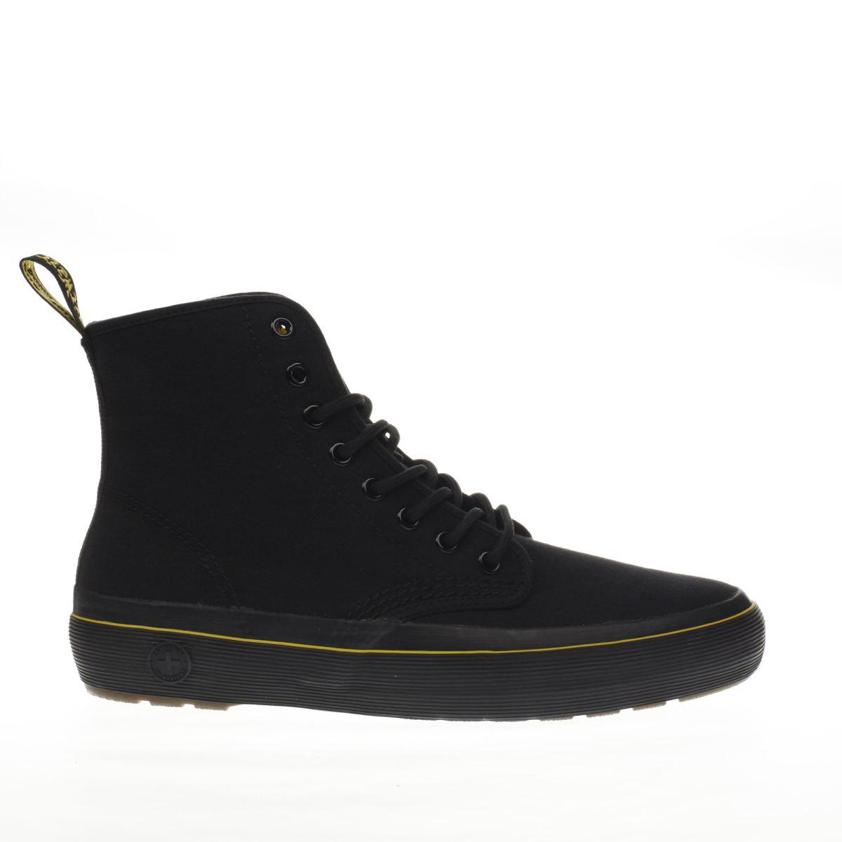 dr martens black monet 8 eye boots