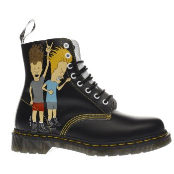 DR MARTENS BLACK & WHITE BEAVIS & BUTTHEAD 8 EYE BOOTS