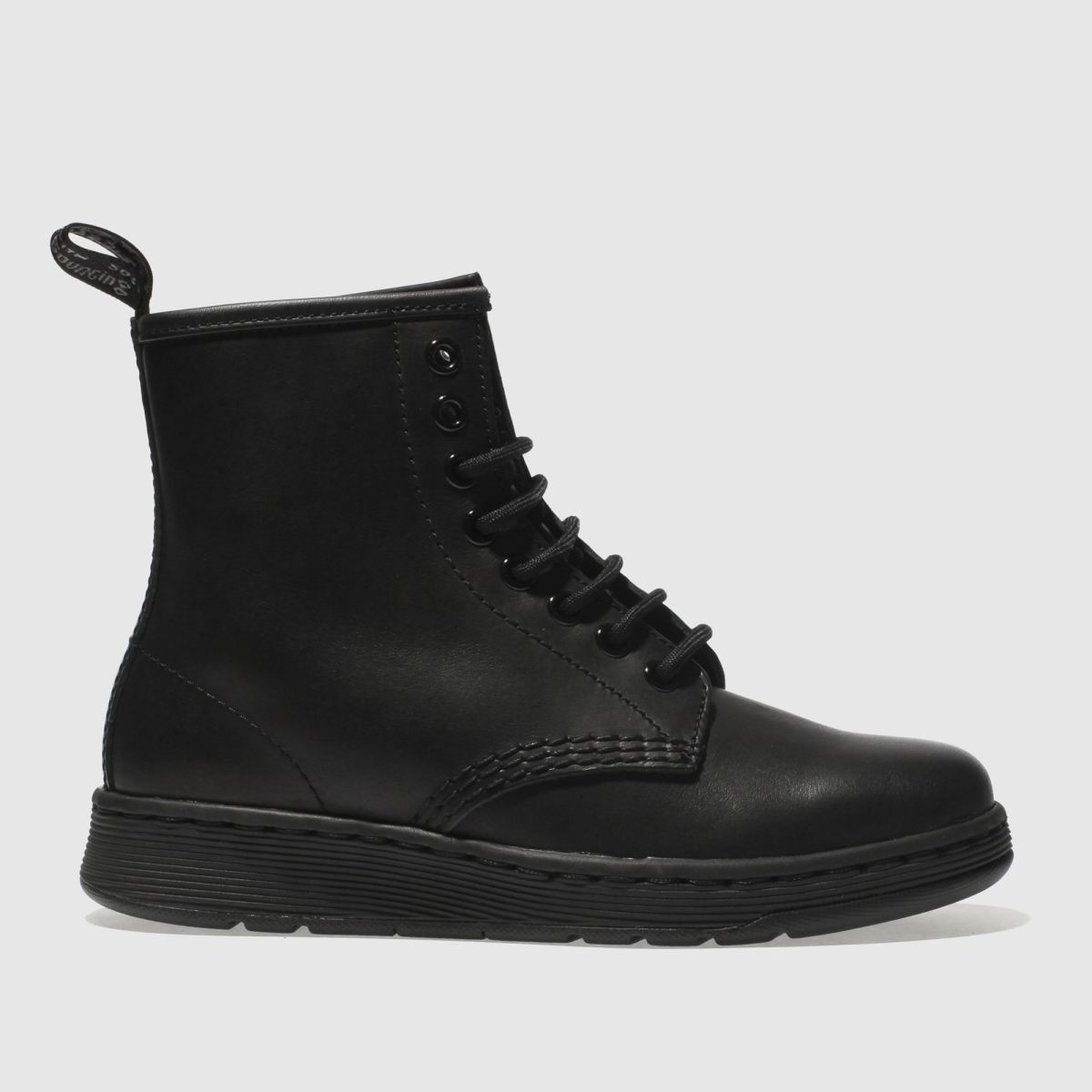 dr martens black newton mono 8 eye boot boots