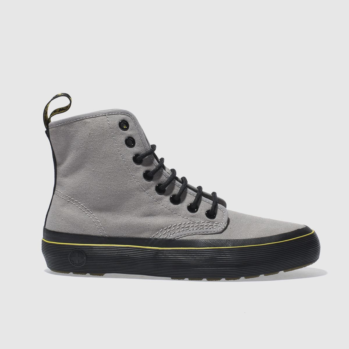 dr martens grey monet 8 eye boots