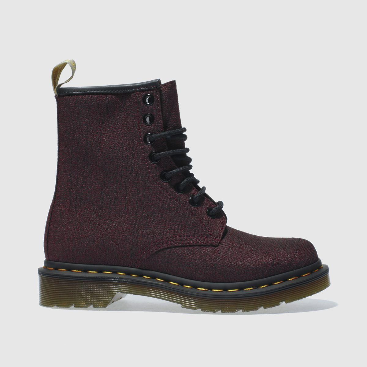 dr martens burgundy vegan castel 8 eye boots