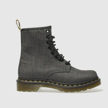 Dr Martens Grey Vegan Castel 8 Eye Womens Boots