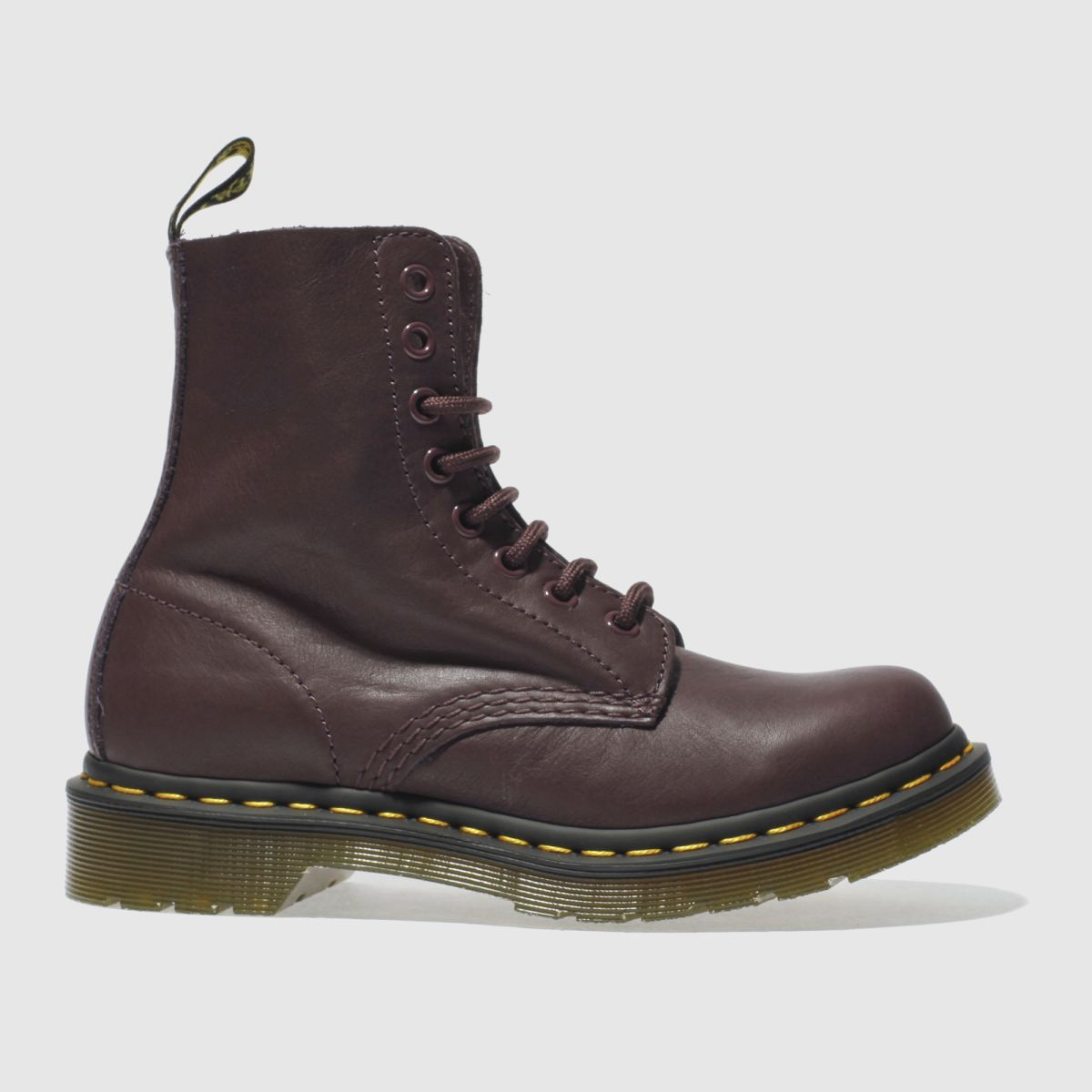 dr martens purple pascal 8 eye boots