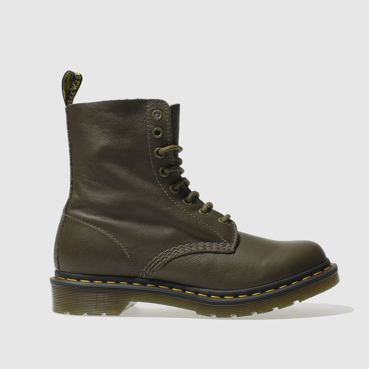 Dr Martens Khaki Pascal 8 Eye Boot Boots