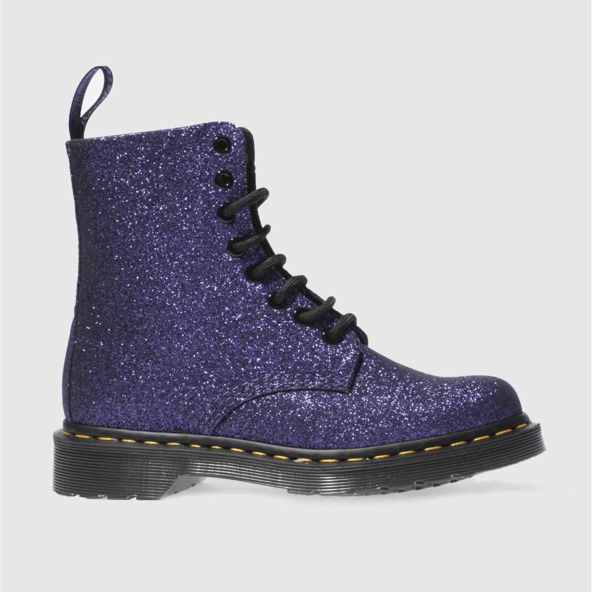 dr martens purple pascal 8 eye boot glitter boots