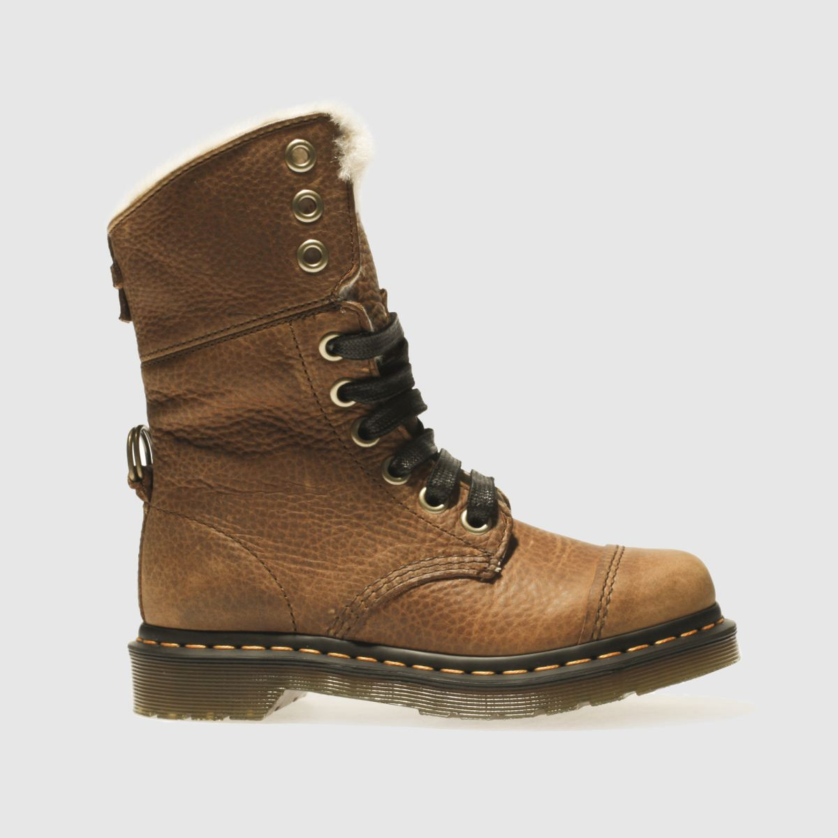 Dr Martens Tan Aimilita Fl 9 Tie Cap Boot Boots