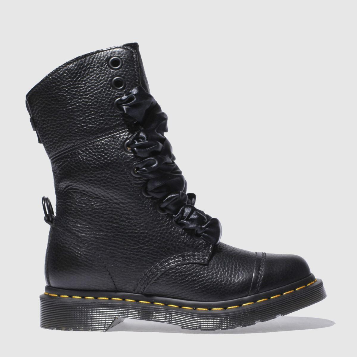 Dr Martens Black Aimilita Fl 9 Tie Cap Boot Boots