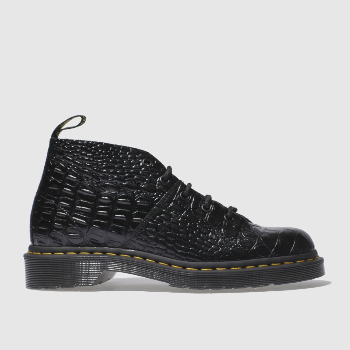 dr martens black church croc monkey boots