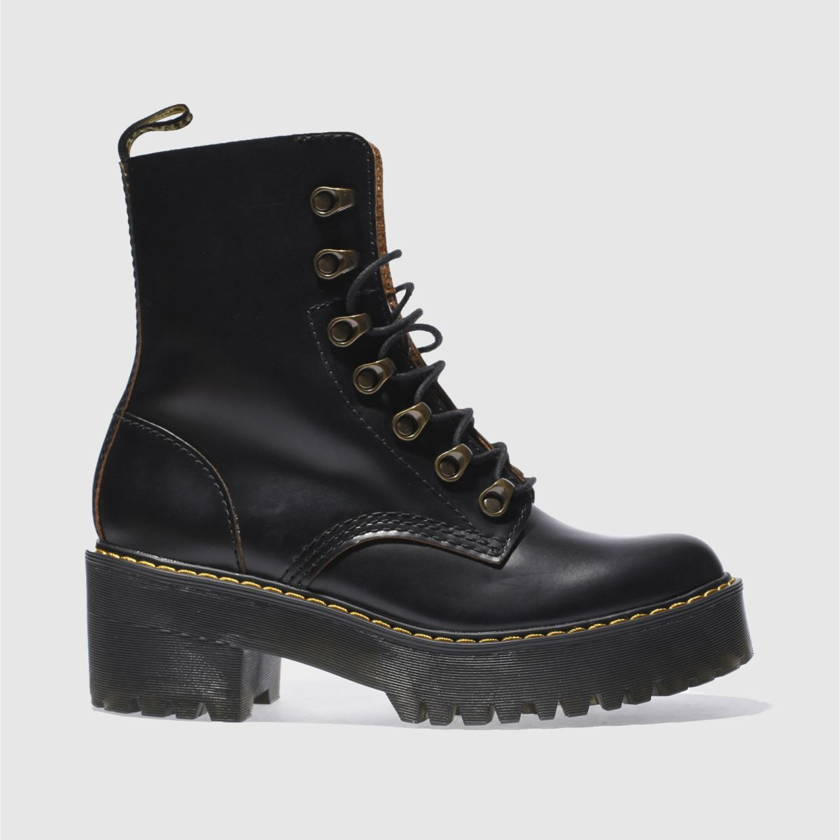 dr martens black leona 7 hook boot boots