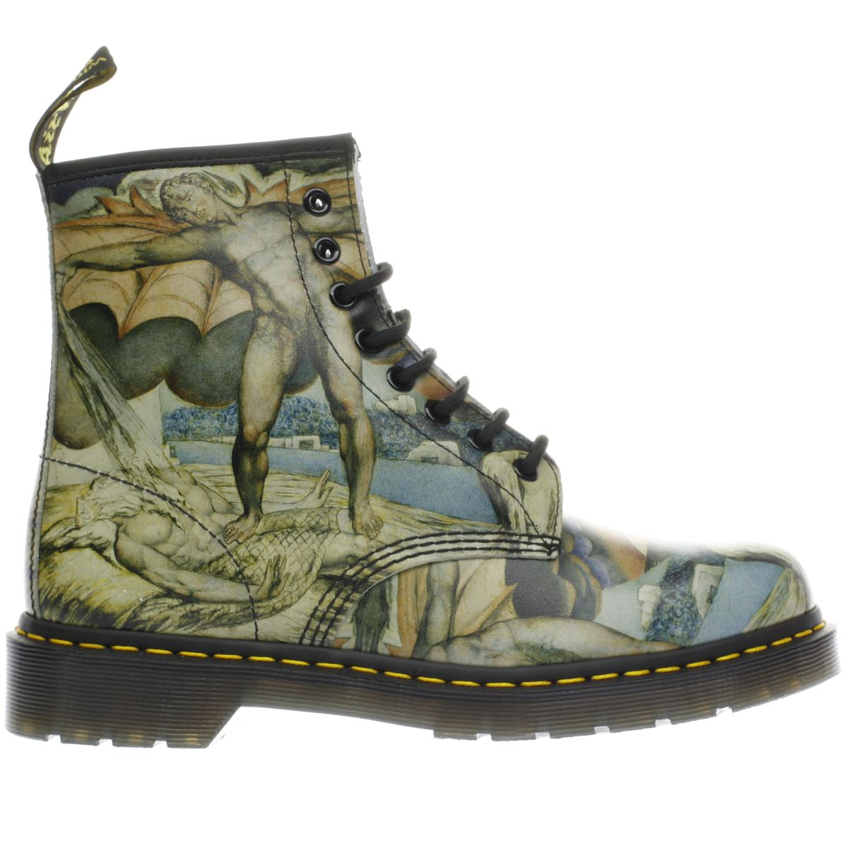 dr martens black & stone 1460 8 eye william blake boots