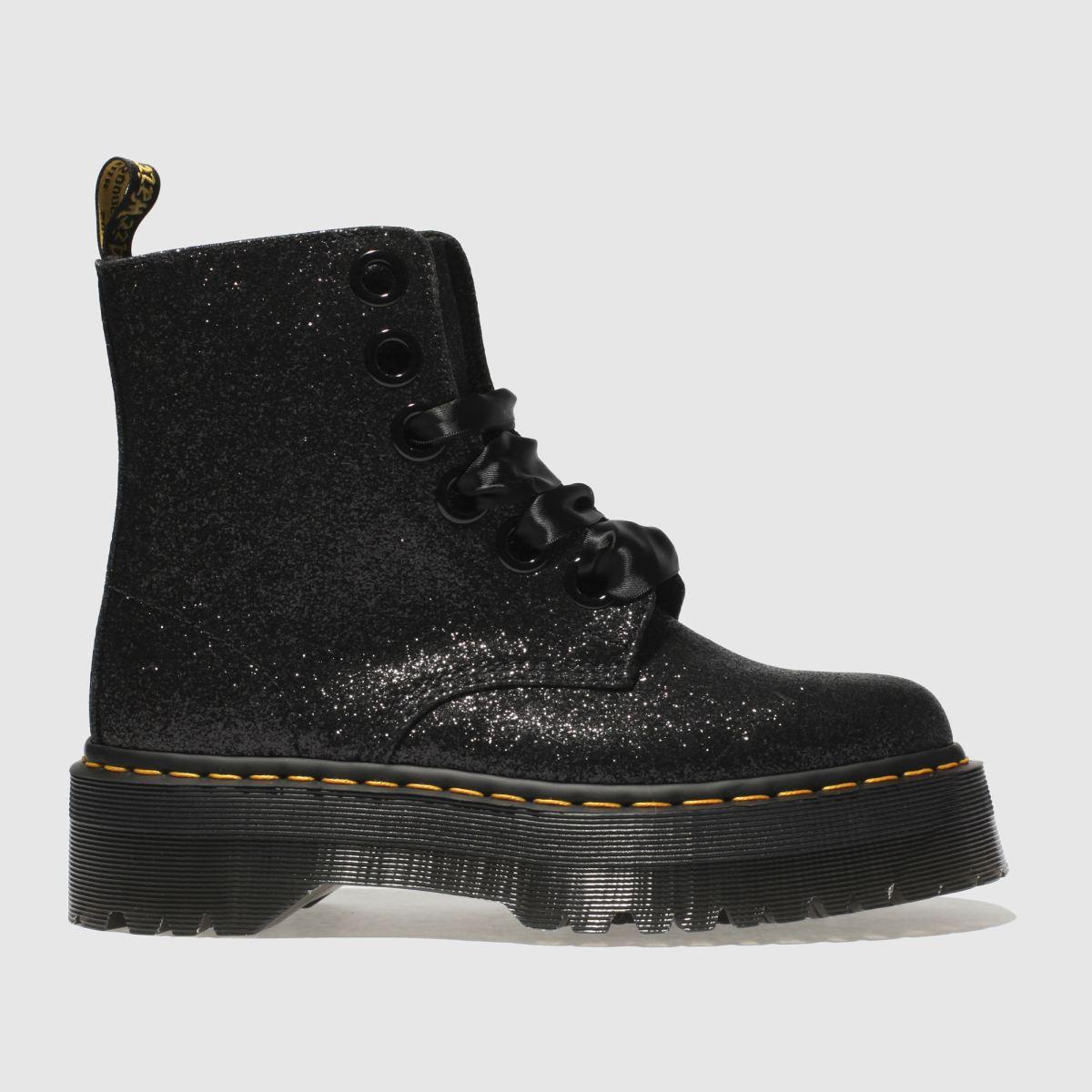 Dr Martens Black Lolita Molly Glitter Boots